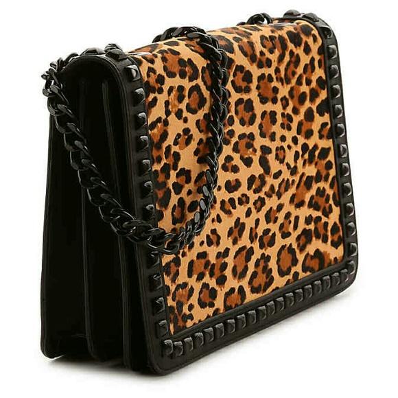 3188cc50b16 Aldo Handbags - ALDO Leopard w Studs Bag